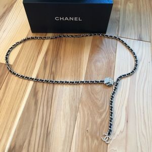 Authentic Chanel Leather Chain Belt